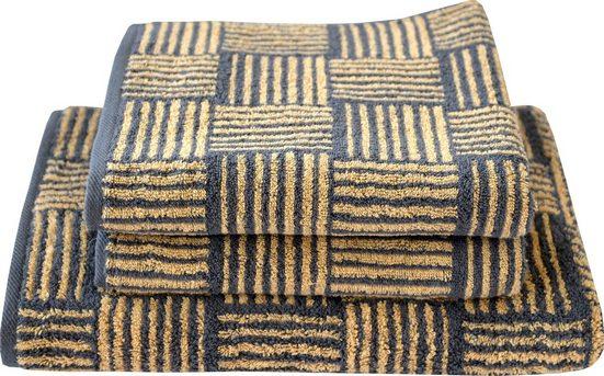 Dyckhoff Handtuch Set »Golden Shades Basket« (3-tlg), mit graphischem Muster