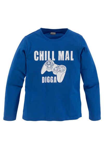 KIDSWORLD Langarmshirt »CHILL MAL...«