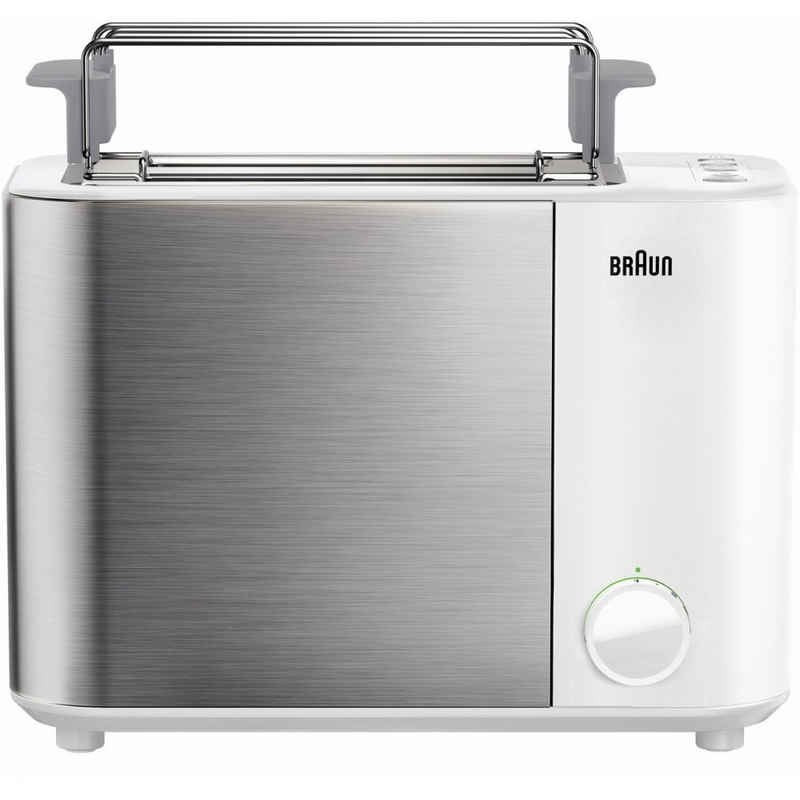 Braun Toaster HT 5010 WH Identity Collection - Toaster - weiß silber, 1000 W