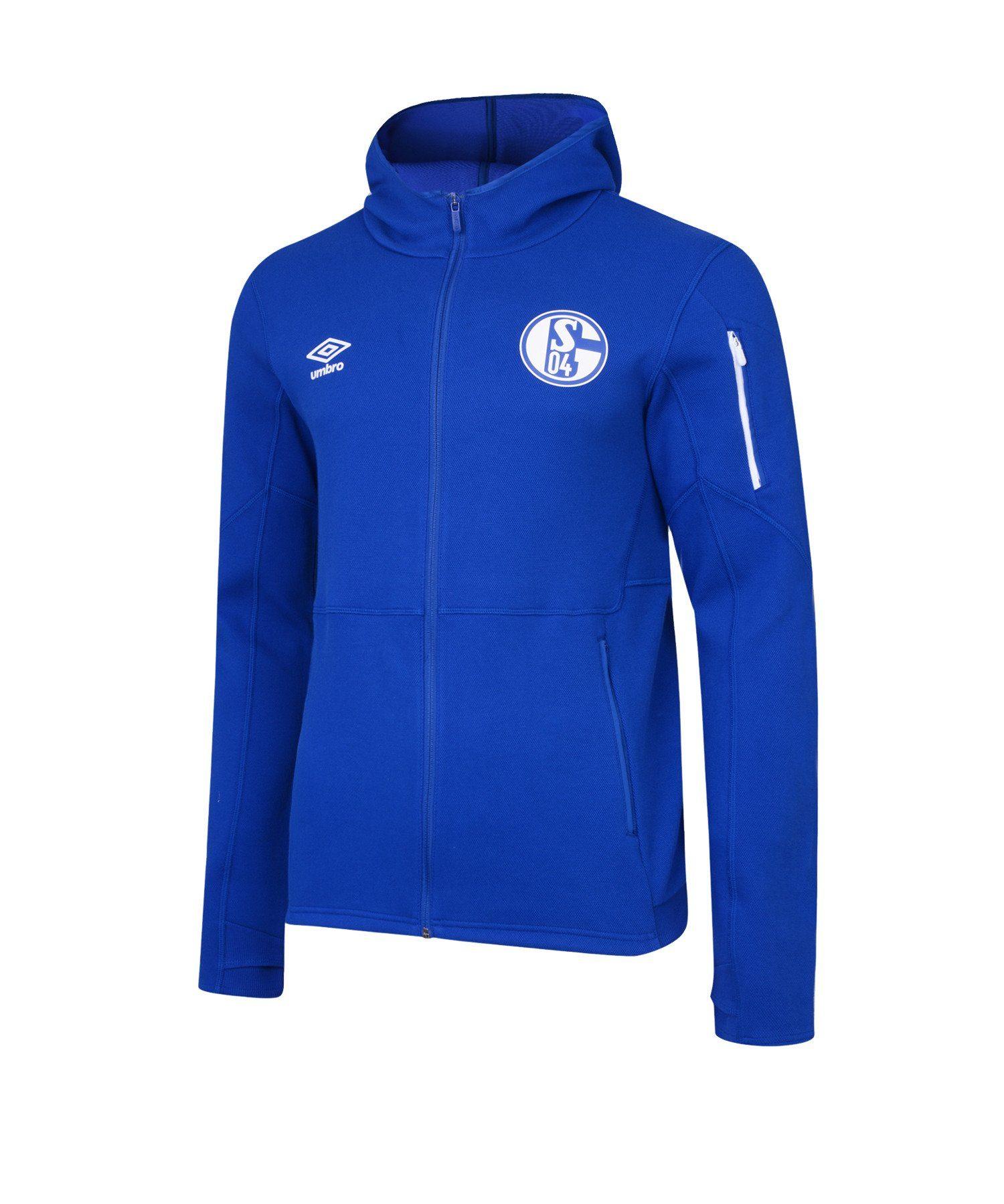 schalke sweat-jacke team blau