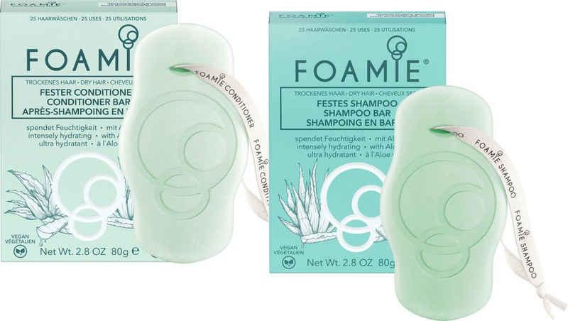 FOAMIE Haarpflege-Set »Foamie festes Shampoo Aloe& Foamie fester Conditioner Aloe«, 2-tlg.