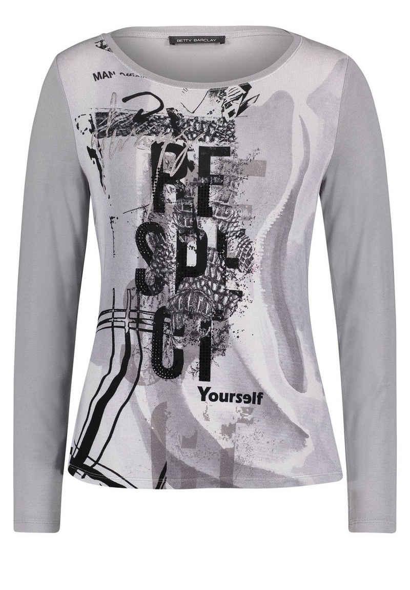 Betty Barclay T-Shirt »mit Aufdruck« Glitzersteine