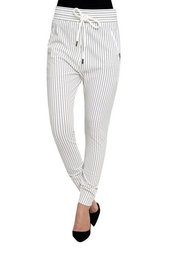 Zhrill Casualpants »Fabia« Zhrill Damen Joggpant Stoffhose Anzugshose Tapered Cropped Slim Fit Fabia