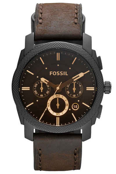 Fossil Chronograph »Machine Leder Braun«