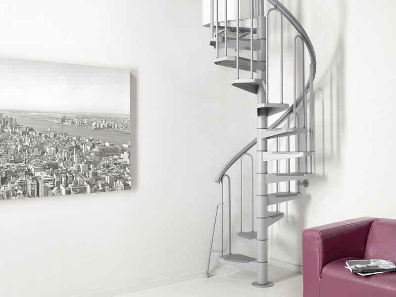 Fontanot Spindeltreppe »Nice 3«, für Geschosshöhen bis 351 cm, Stufen offen, Ø: 100 cm