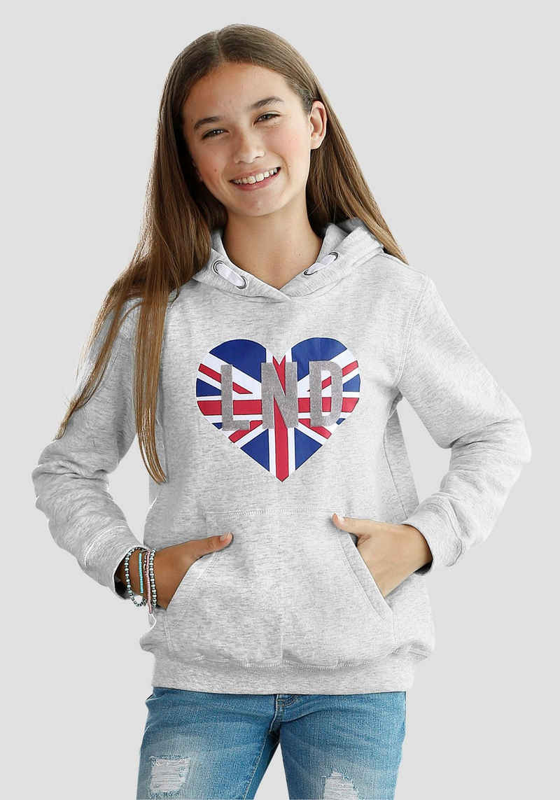 Arizona Kapuzensweatshirt mit Veloursdruck