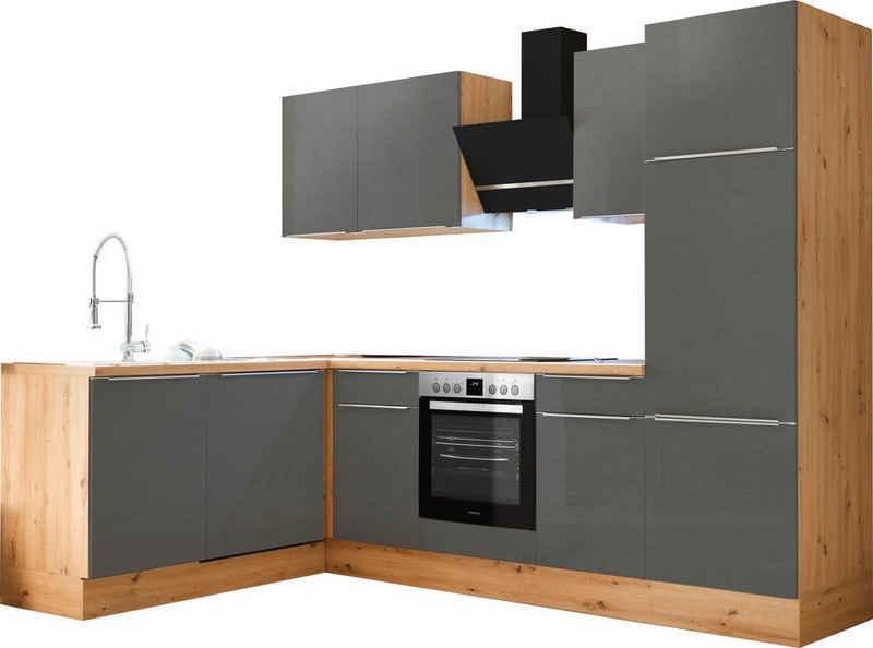 RESPEKTA Winkelküche »Safado«, mit 2 E-Geräte-Sets zur Auswahl, hochwertige Ausstattung wie Soft Close Funktion, schnelle Lieferzeit, Stellbreite 280 x 172 cm