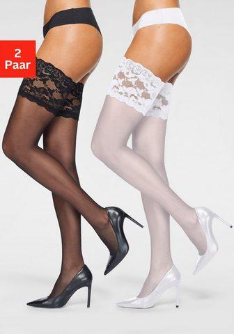 Vivance Halterlose kojinės (2-Paar) su platus ...