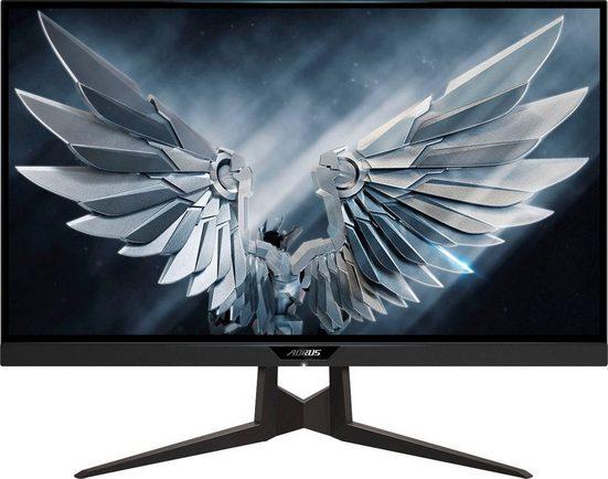 "Gigabyte AORUS FI27Q-P Gaming-Monitor (68,5 cm/27 "", 2560 x 1440 Pixel, QHD, 1 ms Reaktionszeit, 165 Hz, IPS, Pivot-Funktion 90°, Standby-Modus 0,3 Watt, Energiesparmodus 0,5 Watt, Flimmerfei)"