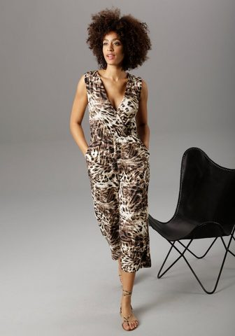 Aniston SELECTED Culotte-Overall im Animal-Print