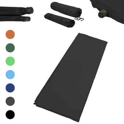 1PLUS Isomatte »Outdoor Isomatte, selbstaufblasend, ca. 2 m Länge, inkl. Flick Set - selbstaufblasbare Luftmatratze geeignet zum Camping und fürs Zelt mit kleinem Packmaß, in verschiedenen Farben, 10 cm Polsterdicke«