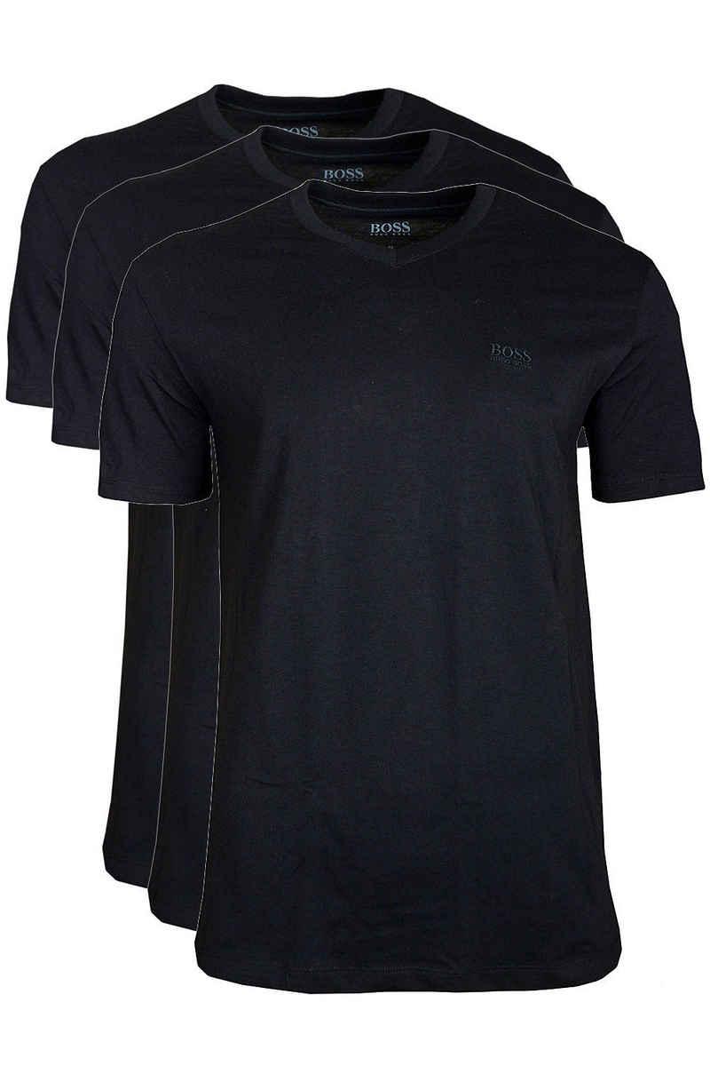 Boss Unterziehshirt »V-Neck« (3 Stück), Herren Shirt Kurzarm aus reiner Baumwolle im Dreierpack