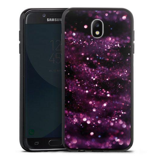 DeinDesign Handyhülle »Lilac Sparkles Look« Samsung Galaxy J7 (2017), Hülle Glitzer Look Muster Glitter