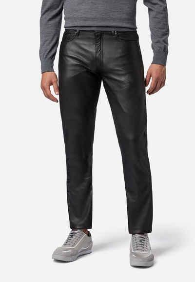 RICANO Lederhose »No. 3 TR« Hochwertiges Lamm Leder, Staight Leg, 5-Pocket Stil