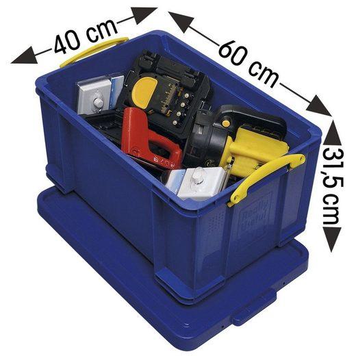 REALLYUSEFULBOX Aufbewahrungsbox, 48 Liter, verschließbar und stapelbar