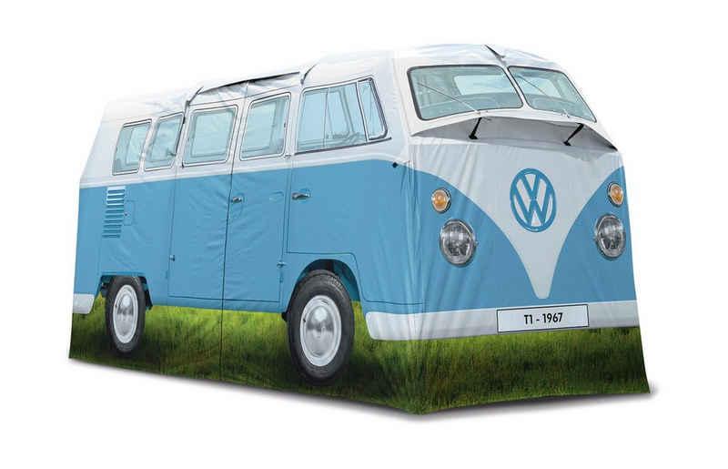 VW Collection by BRISA Hauszelt »VW T1 Bulli Bus«, Personen: 4 (Außenzelt, Innenzelt, Seile, Heringe, Stangen (16mm Stahl und 13mm Fiberglas), Tragetasche und Aufbauanleitung)