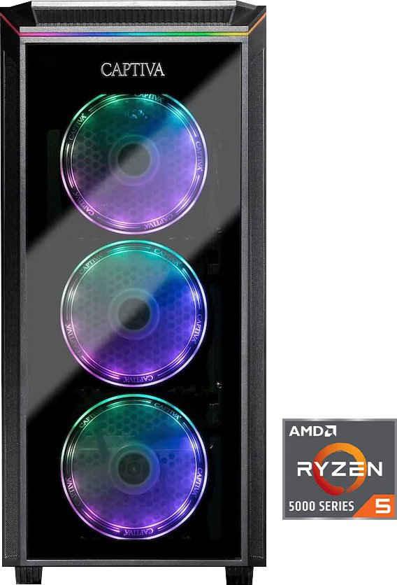 CAPTIVA G12AG 21V2 Gaming-PC (AMD Ryzen 5 5600X, GeForce RTX 3060, 16 GB RAM, 1000 GB HDD, 500 GB SSD, Luftkühlung)
