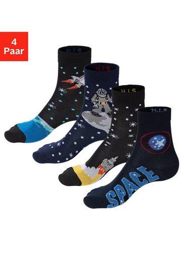 H.I.S Socken (4-Paar) mit eingestrickten Motiven