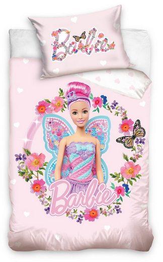 Babybettwäsche »Beautiful Flowers«, Barbie, Kinder und Babybetten geeignet