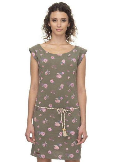 Ragwear Shirtkleid »TAMY FLOWERS« (2-tlg., mit Gürtel in Lederoptik) mit multicolor Flower Allover Print
