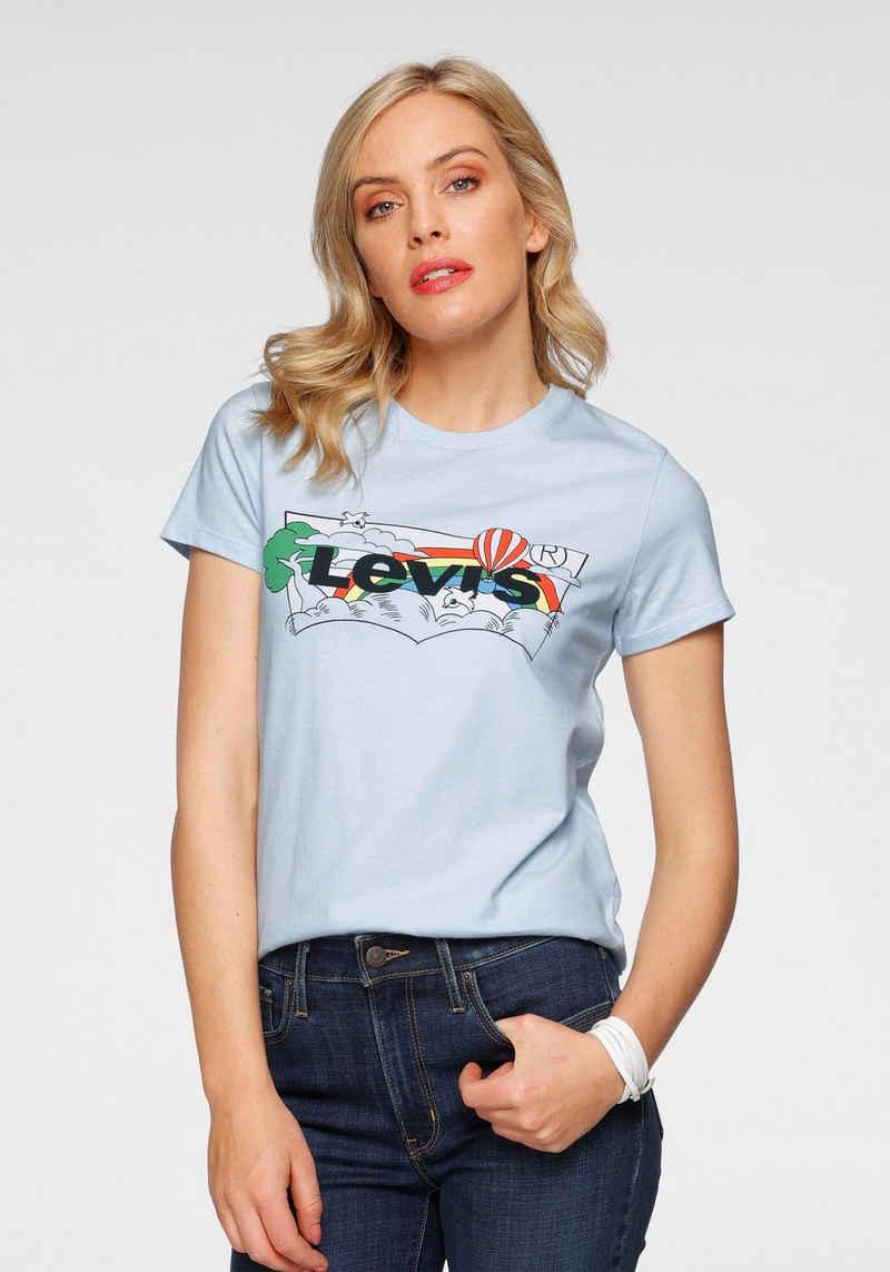 Levi's® T-Shirt mit Logo-Print in Natur-Optik