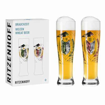 Ritzenhoff Bierglas »Brauchzeit Weizen 2er-Set 002«, Glas