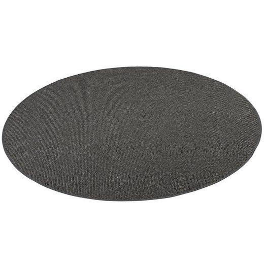 Designteppich »Bentzon Natur Flachgewebe Teppich Rund«, Snapstyle, Rund, Höhe 5 mm