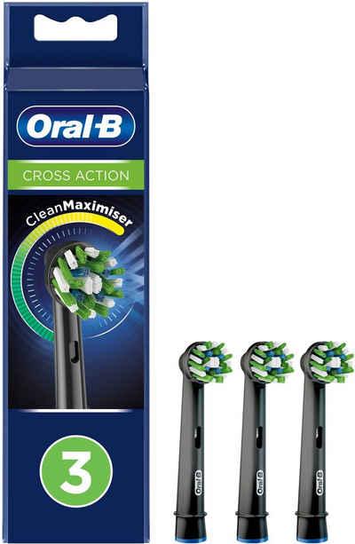 Oral B Aufsteckbürsten »Cross Action BLACK CleanMaximizer«, CleanMaximiser-Technologie