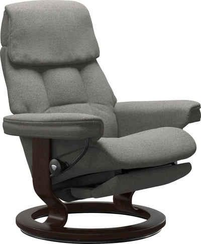 Stressless® Relaxsessel »Ruby«, mit Classic Base und Power™, elektrisch verstellbar, optional 2-motorisch, Größe M & L, Gestell Braun