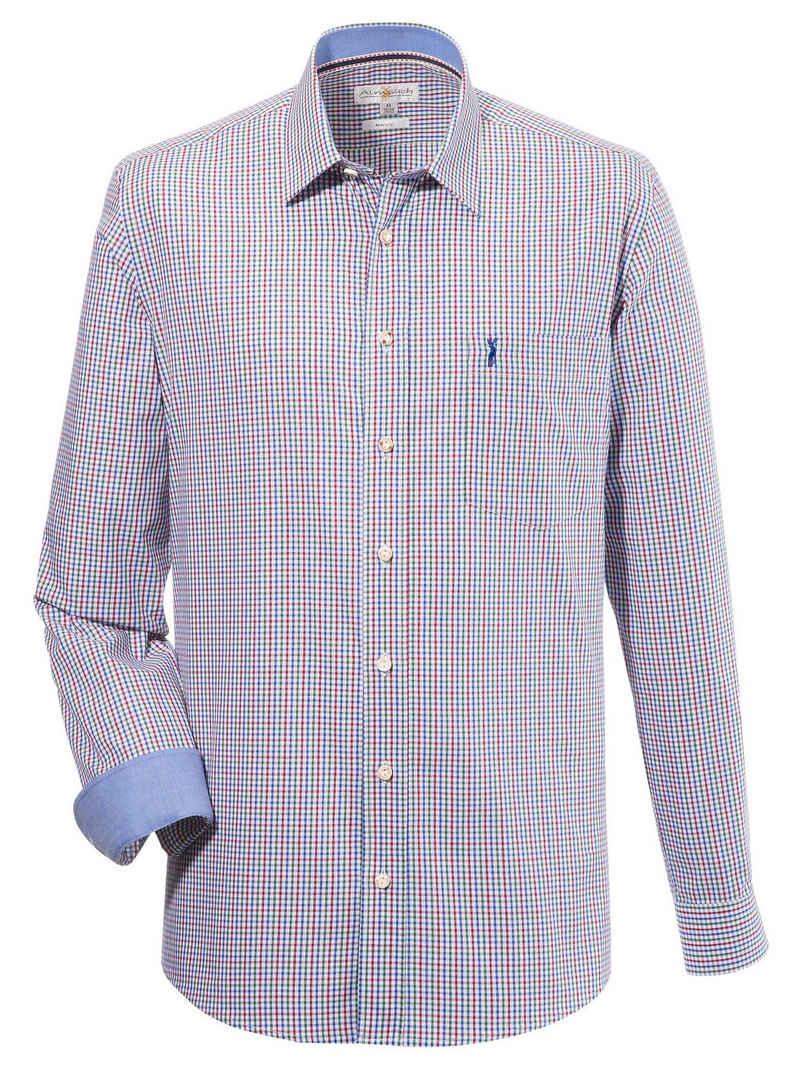 Almsach Trachtenhemd mit kleinem Hirschstick