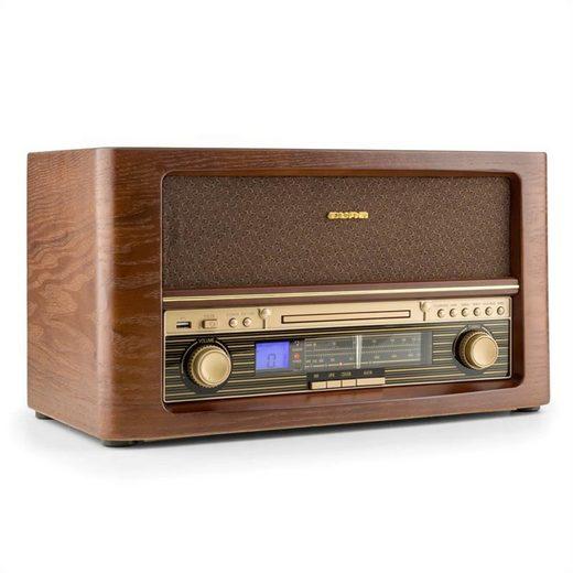 Auna »Belle Epoque 1906 Retro-Stereoanlage CD USB MP3 UKW« CD-Player (0 W)