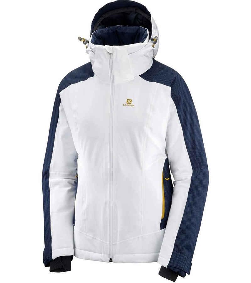 Salomon Skijacke »Salomon The Brilliant Snowboard-Jacke modische Ski-Jacke für Damen Winterjacke Weiß/Blau«
