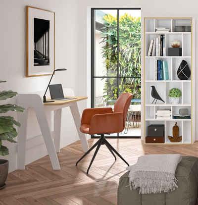 TemaHome Schreibtisch »Fiore«, mit einer praktischen Kabeldurchführung, Breite 91 cm