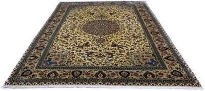 Teppich »Ghom Teppich handgeknüpft beige«, morgenland, rechteckig, Höhe 7 mm, handgeknüpft