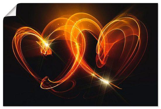 Artland Wandbild »Verbundenheit«, Herzen (1 Stück), in vielen Größen & Produktarten - Alubild / Outdoorbild für den Außenbereich, Leinwandbild, Poster, Wandaufkleber / Wandtattoo auch für Badezimmer geeignet