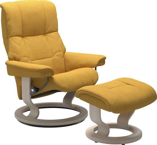 Stressless® Relaxsessel »Mayfair« (Set, Relaxsessel mit Hocker), mit Hocker, mit Classic Base, Größe S, M & L, Gestell Whitewash