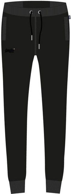 Hosen - Superdry Jogginghose »ORANGE LABEL JOGGER NS« mit dezenter Logostickerei › schwarz  - Onlineshop OTTO
