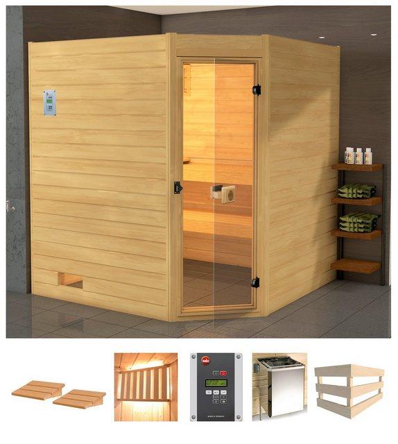Saunen und Zubehör - WEKA Sauna »Vaasa 3 Eck«, 238x189x204 cm, 7,5 kW Ofen mit ext. Steuerung  - Onlineshop OTTO