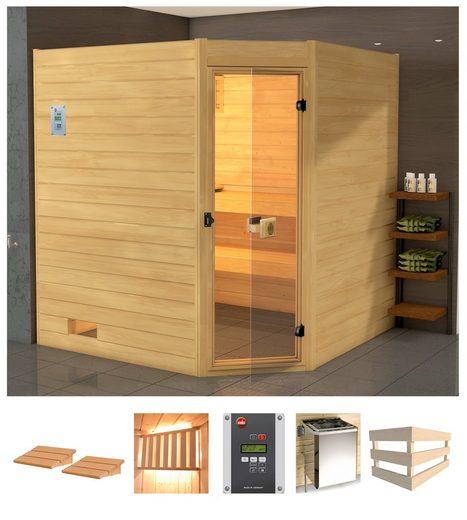 WEKA Sauna »Vaasa 3 Eck«, 238x189x204 cm, 7,5 kW Bio-Kombiofen mit ext. Steuerung