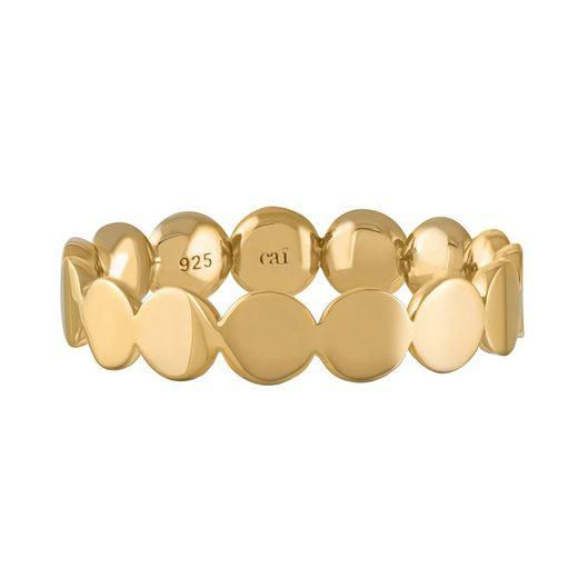 CAÏ Ring »925/- Silber vergoldet Boho«