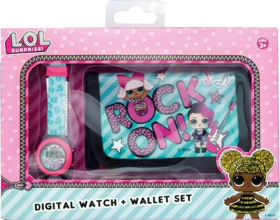 Joy Toy Digitaluhr »L.O.L. Surprise, 22070«, (Packung, 2-tlg., Uhr mit Brieftasche)