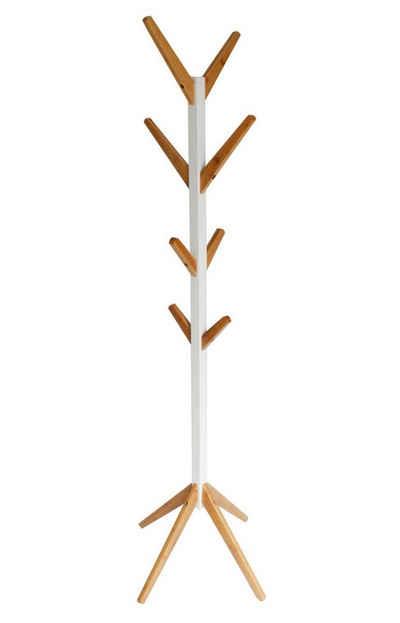 Happy Home Garderobenständer, Bambus Kleiderständer Standgarderobe Holz Garderobe 178cm