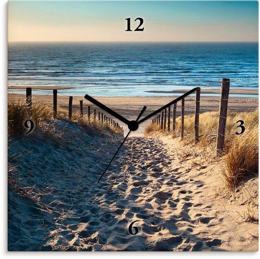 Artland Wanduhr »Weg zum Nordseestrand Sonnenuntergang«