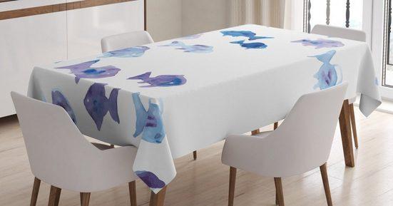 Abakuhaus Tischdecke »Personalisiert Farbfest Waschbar Für den Außen Bereich geeignet Klare Farben«, Tier Aquarell Fische