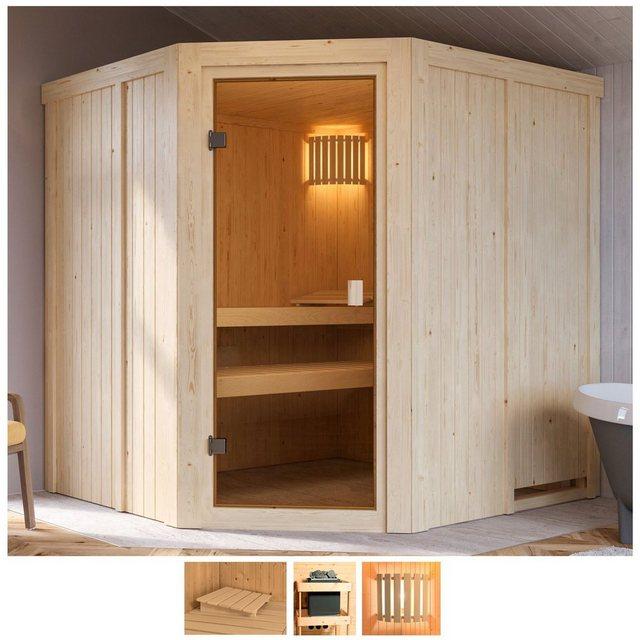 Saunen und Zubehör - Karibu Sauna »Hilda«, BxTxH 196 x 178 x 198 cm, 68 mm, ohne Ofen  - Onlineshop OTTO