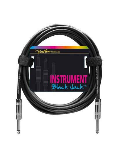 Boston »Black Jack 6 m« Instrumentenkabel, 6,35-mm-Klinke, (600 cm)