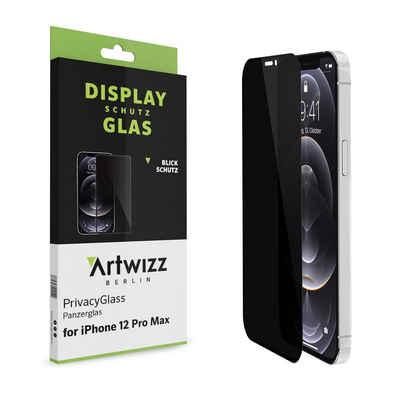 Artwizz Schutzfolie »Artwizz PrivacyGlass Schutzglas kompatibel mit iPhone 12 Pro Max (6.7) - Displayschutz mit Anti-Spy-/Blickschutz-Funktion, Hüllenfreundlich, 9H Stärke«, iPhone 12 Pro Max (6.7)