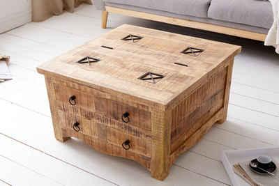 riess-ambiente Truhentisch »IRON CRAFT 70cm natur«, Wohnzimmertisch · Massivholz · Industrial · Couchtisch · mit Schubladen