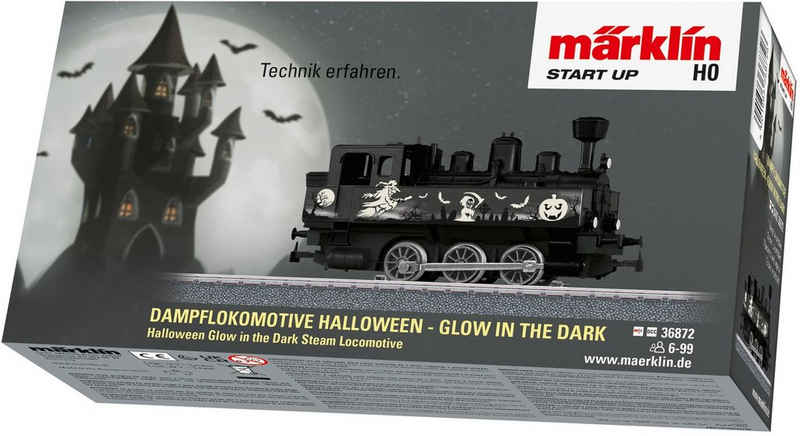 Märklin Dampflokomotive »Märklin Start up - Halloween: Glow in the Dark - 36872«, Spur H0, Made in Europe