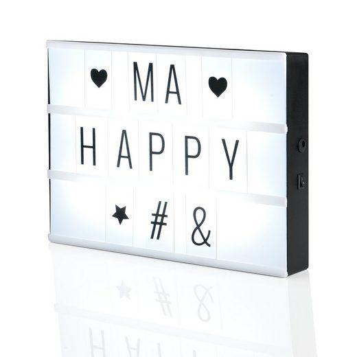 in.tec Dekolicht, »Jette« LED Lichtbox Lichttafel mit Zeichen Set